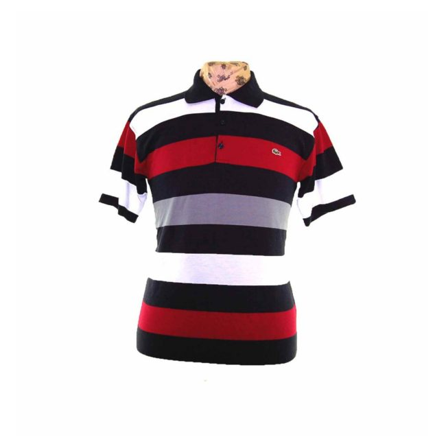 Lacoste Navy Striped Polo Shirt