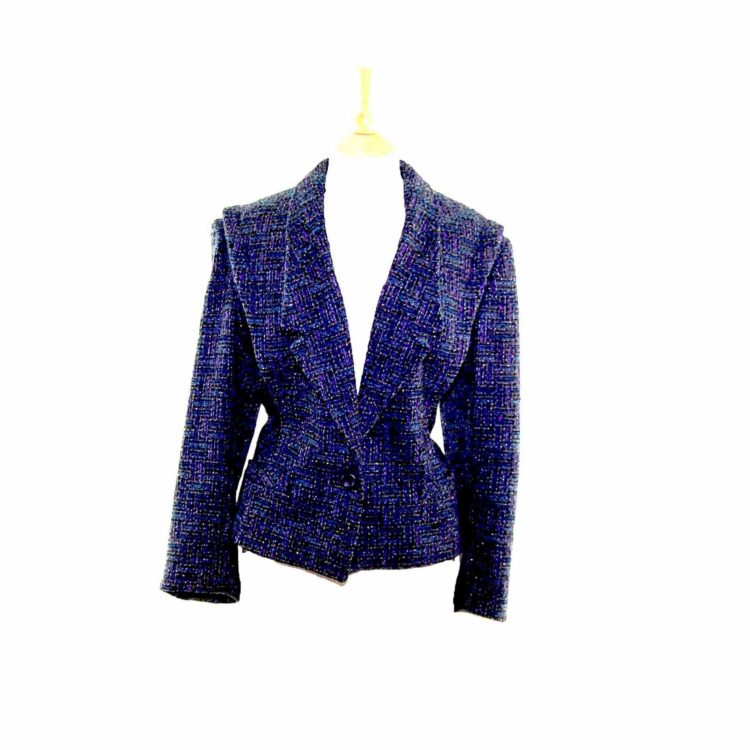 Sparkly Purple Cropped Wool Jacket