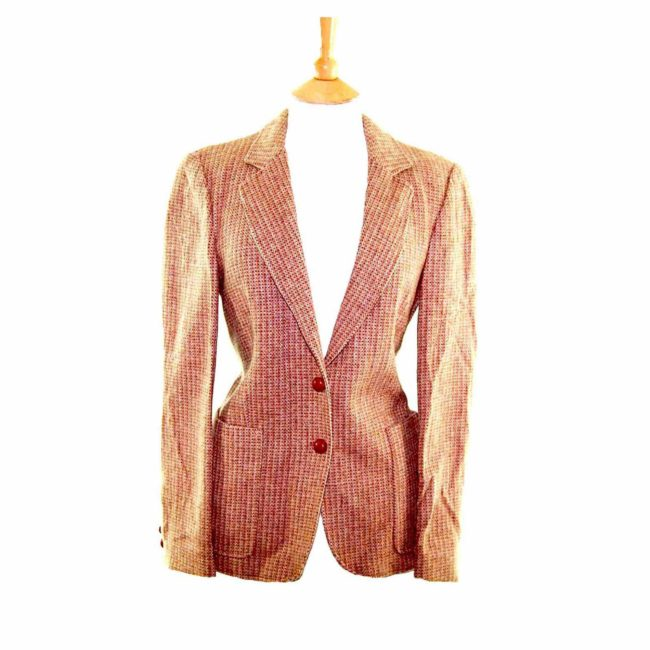 Ladies Caramel Brown Wool Jacket