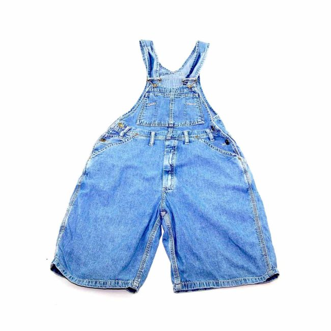 90s Cropped Light Denim Dungarees90s Cropped Light Denim Dungarees