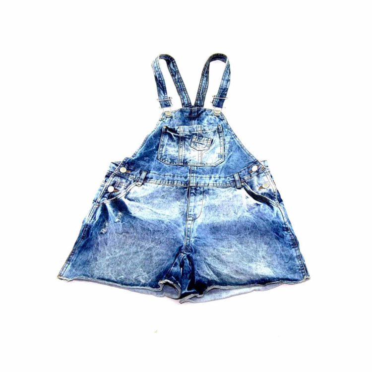 90s Marble Wash Cropped Dungarees