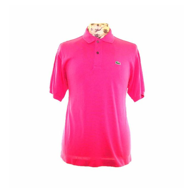 Lacoste Pink Polo Shirt