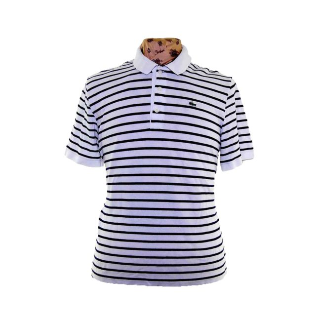 Lacoste Black And White Polo Shirt