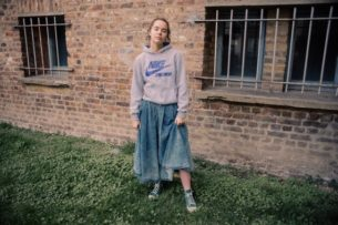 Levis blue denim 90s skirt from Blue17 vintage
