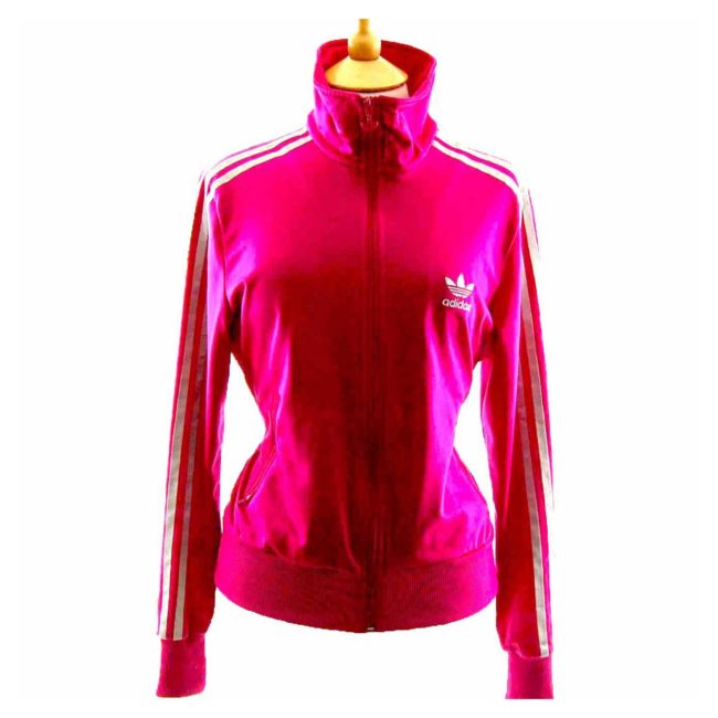 90s Barbie Pink Ladies Adidas Tracksuit Top