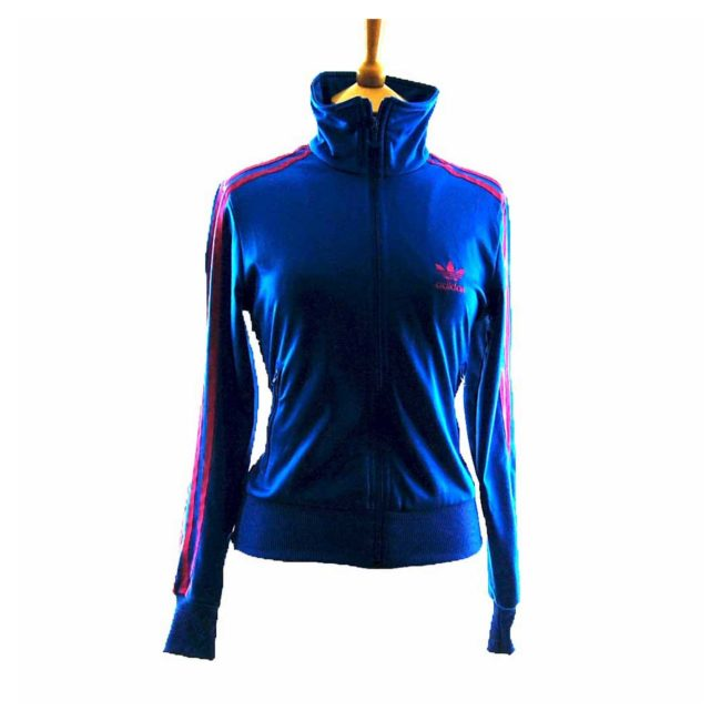 90s Blue Adidas Tracksuit Top Womens