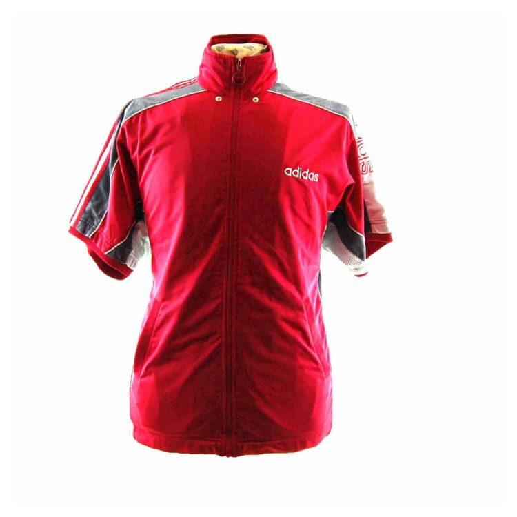 90s Red Adidas Top