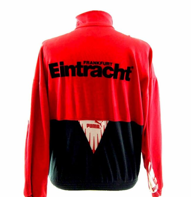 Back of 90s Red Puma Track Top