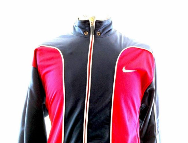 Close up of 90s Mens Nike Tracksuit Top