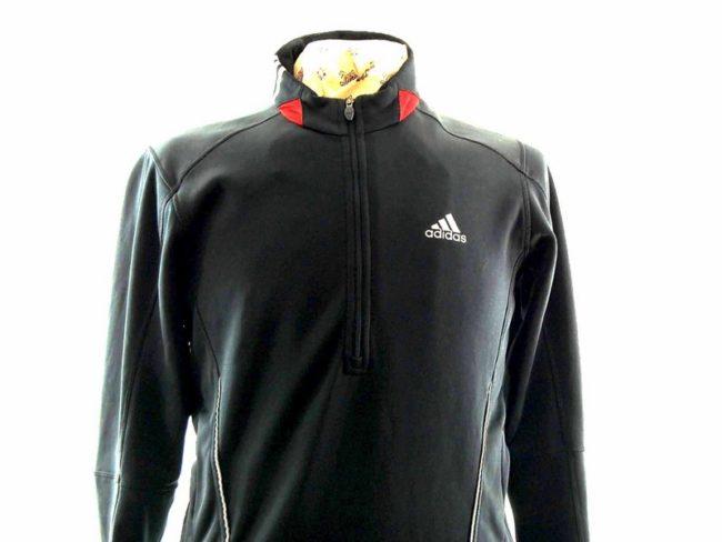 Close up of Mens Black Adidas Response Top