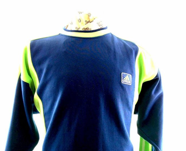 Close up of Mens Blue Adidas Sweatshirt