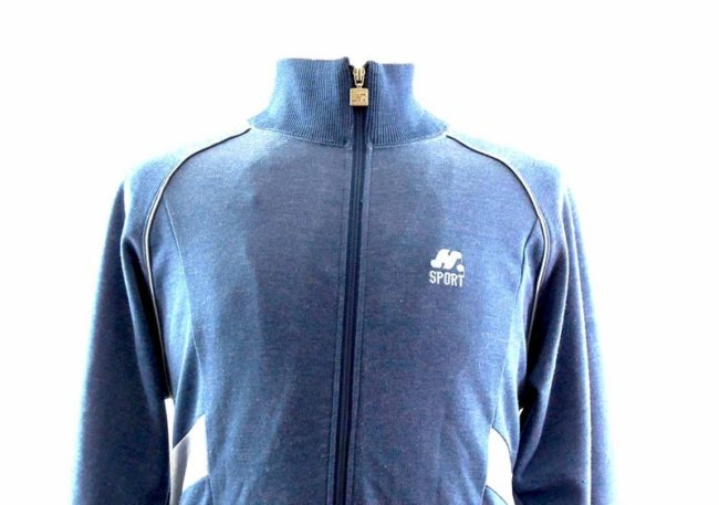 Close up of Mens Blue Two Tone Track Top