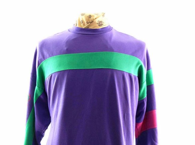Close up of Purple Adidas Sweatshirt Mens