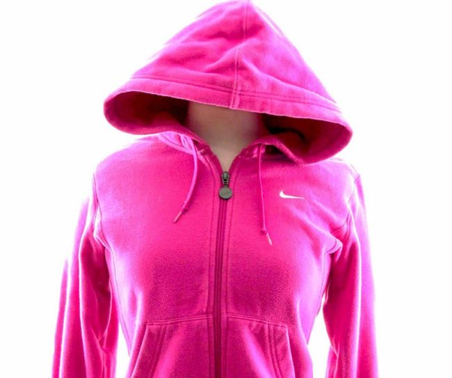 Close up of Womens Pink Nike Tracksuit Top