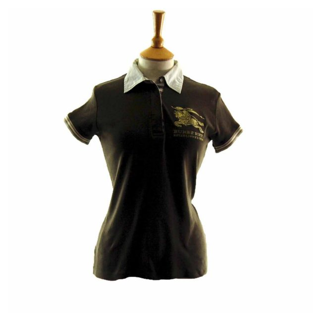 Ladies Brown Burberry polo shirt