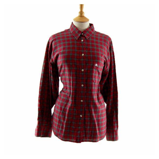 Ladies Burberry Check Shirt