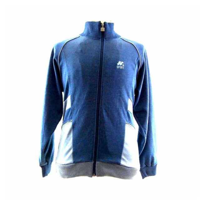 Mens Blue Two Tone Track Top