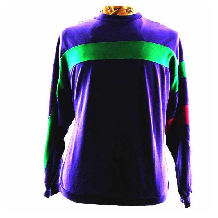 Purple Adidas Sweatshirt Mens - L