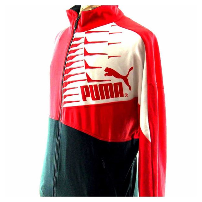 Side view of 90s Red Puma Track Top