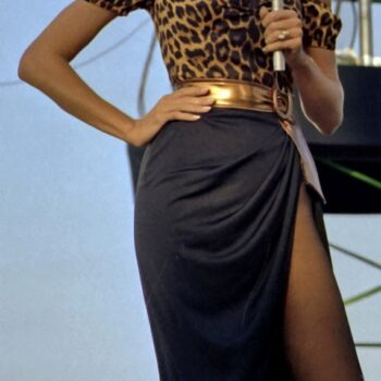 which 80s fashion statements are making a strong comeback? Suzanne Somers entertains the crew aboard the aircraft carrier USS RANGER (CV-61).