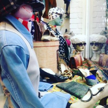 What is the definition of vintage clothing. Blue17_vintage_shop_london_window_display_ photo