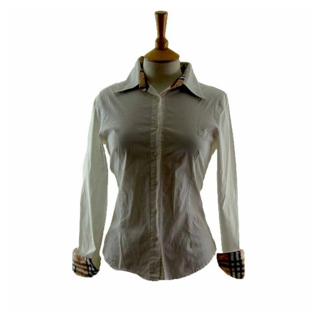 White Cotton Burberry Shirt Womens