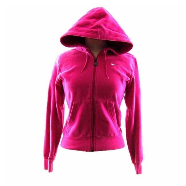 Womens Pink Nike Tracksuit Top