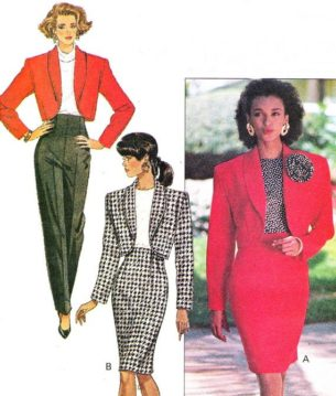 80s clothes for sale cheap in The UK.1980s-Womens Suit Pattern Butterick