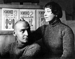 Aleksandr Rodchenko and Varvara Stepanova in the the 1920s. Image via Wikipedia.