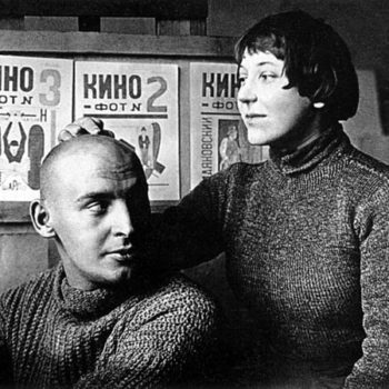 Aleksandr Rodchenko and Varvara Stepanova in the the 1920s. Image via Wikipedia.