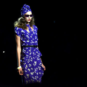 vintage style clothing in the uk-Karlie Kloss at Anna Sui 2011