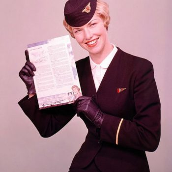 vintage online uk - Have web, will travel - Air Hostess Uniform, 1959