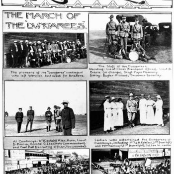 What is the difference between dungarees and jeans-Visual record of the March of the 'Dungarees' in November 1915.