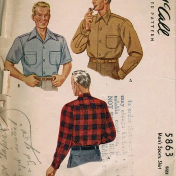 mens 40s fashion - 1944 Men's shirts