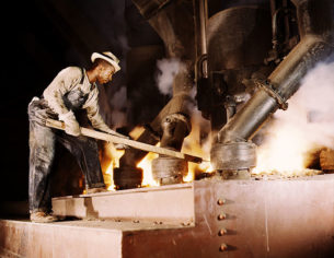 Denim Dudes Book - Smelting furnace worker, Muscle Shoals, Alabama,1942