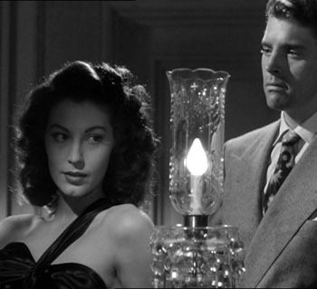 Retro vintage clothing, Screenshot of Ava Gardner and Burt Lancaster from the trailer for the film The Killers, 1946