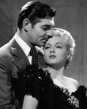 30s and 40s fashion - Clark Gable and Lana Turner for the film Honky Tonk,1941