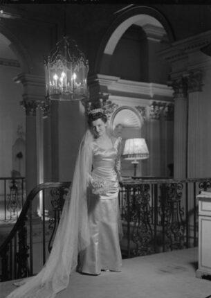 Dress designed by Bianca Mosca,1945