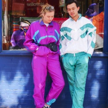 His & hers 1980s shell suit