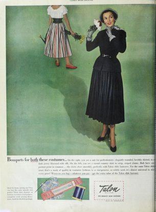 40s womens fashion-Talon zip fastener publicity cover, 1948