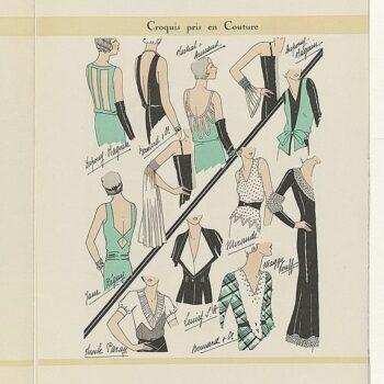 Feuillets de l' élégance féminine featuring Jane Régny, Mai 1931