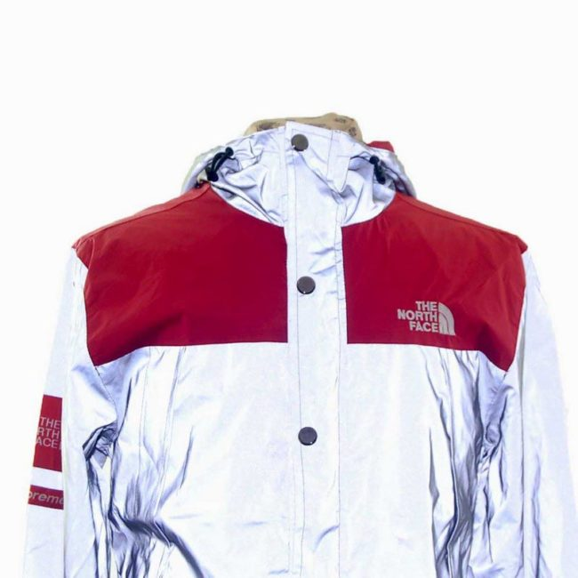 Front close up of North Face Windbreaker Jacket