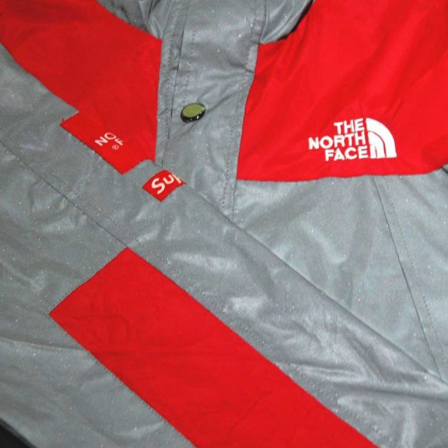 North Face Supreme Reflective Jacket front and sleeve