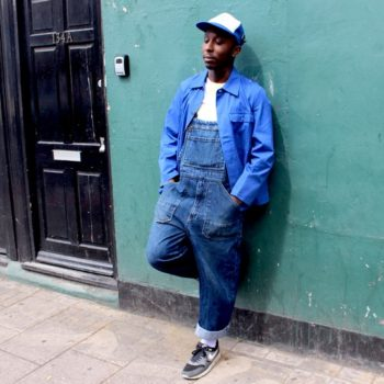Vintage French workwear, jacket and bib overalls