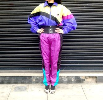 Women's shell suit 80s style