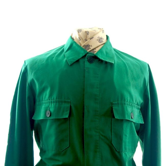 front of Vibrant Green Work Jacket