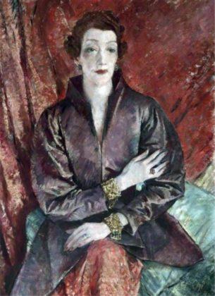 Mrs Eva Lutyens by Glyn Warren Philpot. c1935-1937. Image via Pinterest.