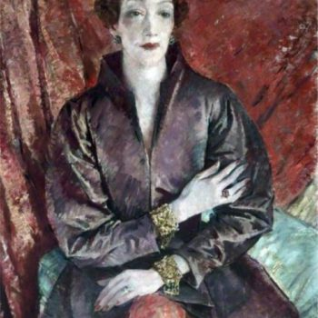 Mrs Eva Lutyens by Glyn Warren Philpot. c1935-1937. Image via Pinterest.