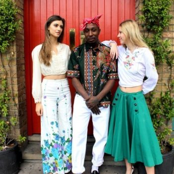 Beautiful flowery bellbottoms complement a cream blouse, an African shirt goes well with white trousers and a mint midi skirt looks great with an embroidered peasant top.