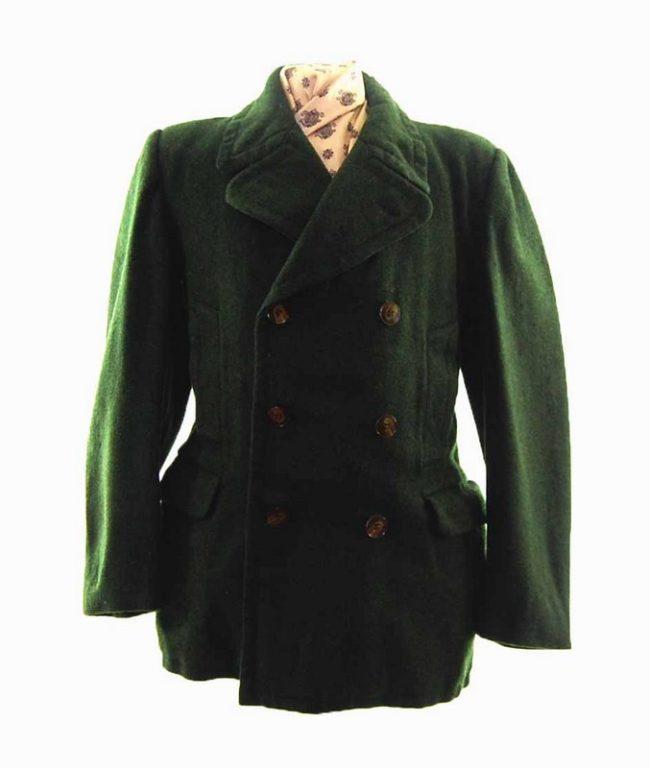 1940s Men's Pea Coat